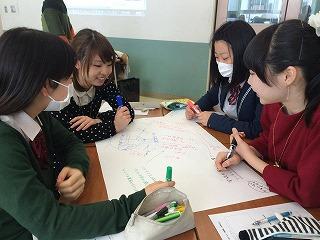 神奈川総合高校での「まちエネ高校」の授業の様子