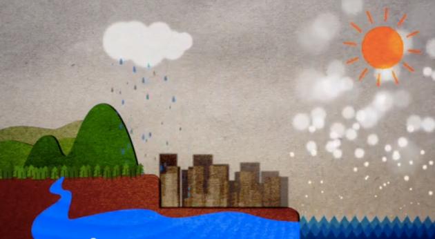 (水の循環を伝えるアニメーション教材)