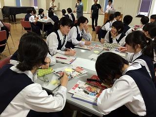 和歌山信愛高校での授業の様子