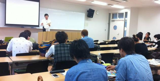 千葉商科大学での授業の様子
